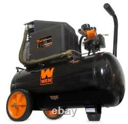 FREE SHIPPING WEN 6 Gallon Oil-Lubricated Portable Horizontal Air Compressor