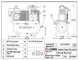 FS Curtis 14HP GAS POWERED KOHLER MOTOR