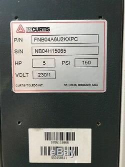 FS Curtis NXB05 Rotary Screw Silent Air Compressor 230v 1ph lightly used