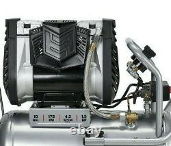Fortress 10 Gallon Air Compressor Ultra Quiet Serie Horizontal 175 PSI Auto Shop