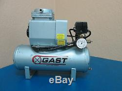 GAST DOA-P710T-AA Electric Air Compressor, Tank Mounted