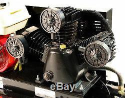 Gasoline Powered Air Compressor 6.5 HP Honda GX200 Engine 10 Gallon Tank