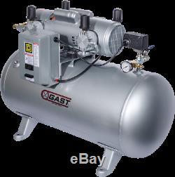 Gast 7hdd-70ta-m750x Air Compressor Oil Less 4 Pistons Lab Use