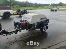 Grimmer Schmidt 175 cfm air compressor on trailer sand blasting close to the 185