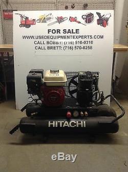 Hitachi 8 gal Air Compressor 5.5 hp Honda Gas Powered Portable Wheelbarrow USED