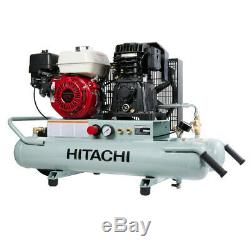 Hitachi Portable 8 Gallon Gas Powered Wheelbarrow Air Compressor EC2610E Recon