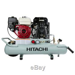 Hitachi Portable 8 Gallon Gas Powered Wheelbarrow Air Compressor EC2610E Recon