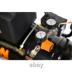 Horizontal Air Compressor Oil-Lubricated Portable Auto-shutdown Home 6 Gal