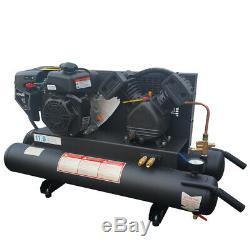 Horizontal Gas Driving Piston Compressor 125psi 11.6cfm 6.5HP