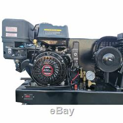Horizontal Gas Driving Piston Compressor 180psi 24cfm 13HP