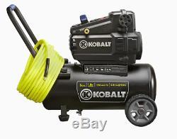 Hotdog Air Compressor 8 Gal 1.8 HP 150 PSI 120-V Horizontal Portable Kobalt NEW