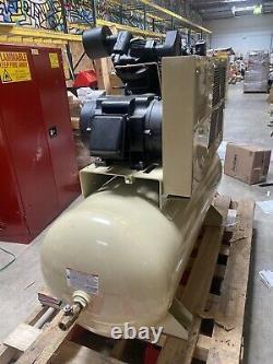 INGERSOLL RAND 120 gal 15 HP Air Compressor 3Ph Electrical Horizontal