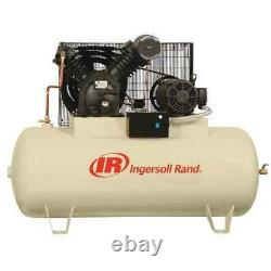 INGERSOLL RAND 2545E10V Electric Air Compressor, 2 Stage, 28.1cfm