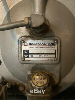 INGERSOLL RAND T30 Air Compressor 230/460 Volts 120 GAL 10HP 3 Phase