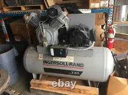 INGERSOLL RAND T30 Electric Air Compressor, 2 Stage, 15 HP, 7100E15