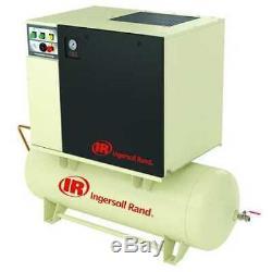 INGERSOLL RAND UP6-15C-125/120-460-3 Rotary Screw Air Compressor, 15 HP, 55 cfm