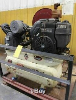 Ingersoll-Rand 12.5 Hp Kohler Pallet Mnt'd Port. Air Compressor withAlemite Reel