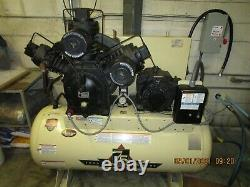Ingersoll Rand 15 HP Air Compressor with 120 Gallon Horizontal Tank