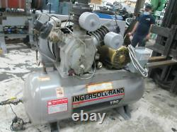 Ingersoll Rand 15T Two Stage Pump 15Hp 230/460V 72 CFM Horizontal Air Compressor
