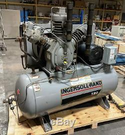 Ingersoll Rand 20 HP T30 Horizontal 2-Stage Air Compressor 15TE20
