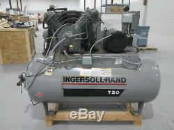 Ingersoll Rand 30T Twin Piston Type Air Compressor WithBaldor StandardE 10Hp Drive
