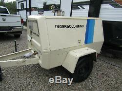 Ingersoll Rand CFM Portable Rotary Screw Air Compressor LOW HOURS