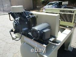 Ingersoll Rand Duplex 2-2475E5, 2 x 5hp Air Compressor, 120 Gallon Tank 208V 3ph