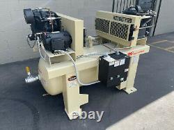Ingersoll Rand Duplex 5HP (10HP Total) Air Compressor 200-208V 3 pH