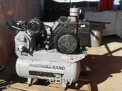 Ingersoll Rand Gas Powered Air Compressor. M0del T 30. Service Truck Runs G00d