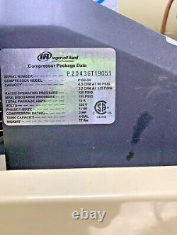 Ingersoll Rand P1IU-A9 Oil-Lubricated Twin Stack Air Compressor 4 Gal Q-1