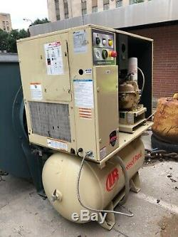 Ingersoll Rand Rotary Screw Air Compressor, 15hp, 80 gal, Yr 2008