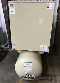Ingersoll Rand Screw Air Compressor UP6-10TAS-150 PSG 80GAL With Dryer LOW HOURS