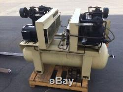 Ingersoll Rand Twin 2475 Compressors on 80 Gallon Tank