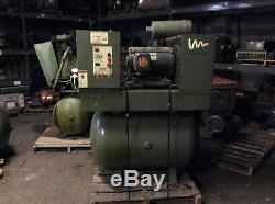 Joy 25hp air compressor, 16,358hrs, 208/230/460v 190/380v, nice older unit