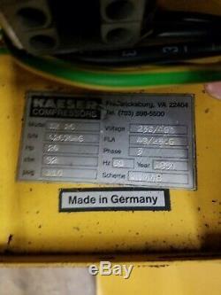 Kaeser SK 26, 20 HP rotary screw compressor