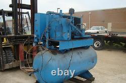 LEROI 30SS 25 Hp Electric Rotary Screw Air compressor 250 Gallon Horizontal Tank