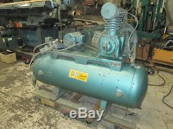 Linear Bros Kellog American 5Hp Horizontal Air Compressor 230/460V 3Ph
