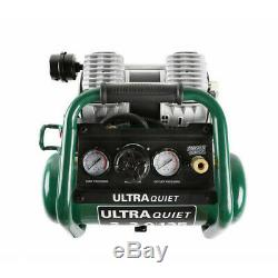 Masterforce Ultra-Quiet 2-Gallon 135 PSI Portable Horizontal Air Compressor