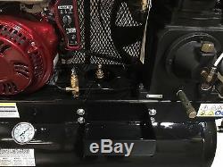 Motor 18 Caballos Compresor de Gas de 30 Galones Montable a Camión de Servicio