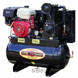 NEW Gas Air Compressor Truck Mount Industrial / Commercial 16HP Electric Start