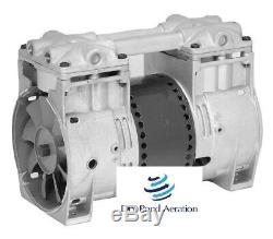 NEW Lake Fish Pond Aerator Pump / Compressor Bottom Mount 3+ cfm 100 PSI+