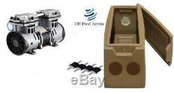 NEW Lake & Pond Aeration Pump with fan guards & Mounts + Cabinet 3.3cfm 70+PSI