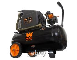 NEW WEN 2287 6-Gallon Oil-Lubricated Portable Horizontal Air Compressor