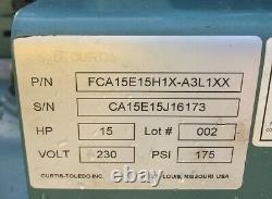 NICE! FS-CURTIS TOLEDO 120gal HORIZONTAL AIR COMPRESSOR CA SERIES 15HP