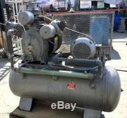 NICE! INGERSOLL-RAND 15TE 30T 120gal HORIZONTAL AIR COMPRESSOR 15HP MOTOR