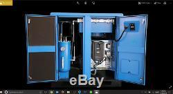 New 15 HP US AIR COMPRESSOR ROTARY SCREW VFD VSD with Trad'N Atlas Copco 65 cfm