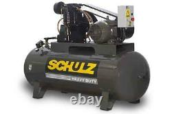 New 7.5hp Schulz V And W Air Compressor Two Stage Elec 3 Ph 230 Vlt 7580hv30x-3#
