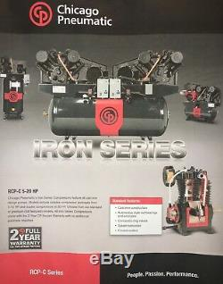 New Chicago Pneumatic 10 HP Air Compressor Special Single Phase 230/1