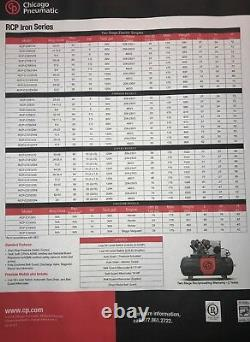 New Chicago Pneumatic 20 HP Air Compressor Special Single Phase Power 230/1
