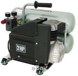 New Hitachi Ec12 Electric Twin Stack 4 Gallon 2 HP Air Compressor 3638616
